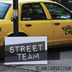 Blank Canvas Tour Street Team